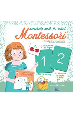 Numerele mele in relief - Montessori